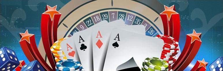 jeux casino cartes jetons dés roulette étoiles